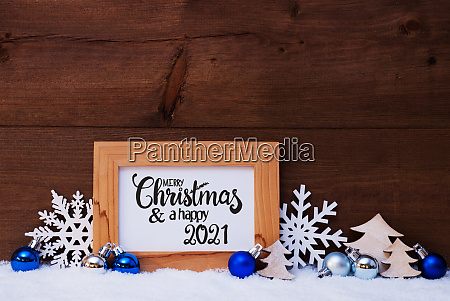 tree snowflake snow blue ball merry