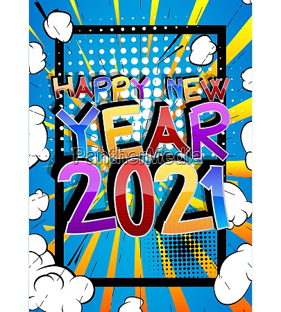 comic book 2021 happy new year