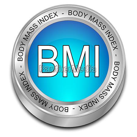 glossy blue body mass index button