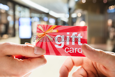 giving gift card or voucher