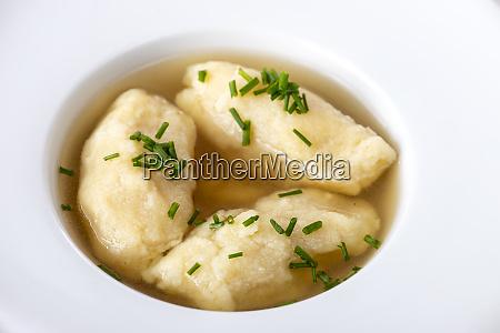 semolina dumplings in broth