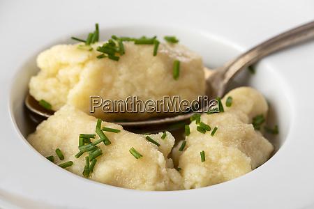 semolina, dumplings, in, broth - 28807699