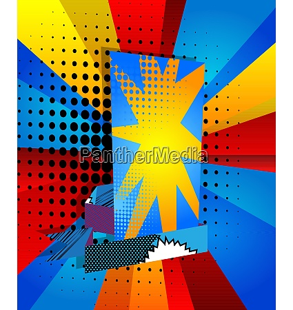 comic book design colored background with