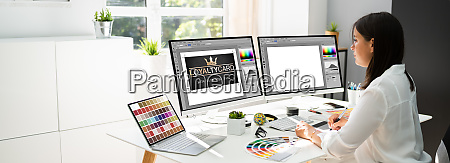 graphic designer artist working
