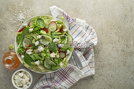 salad fresh cheese curd