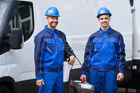 pest control exterminator service workers