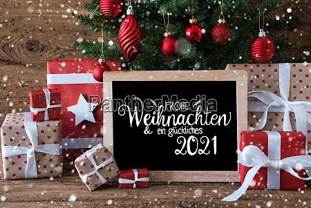 christmas tree snowflakes gift text glueckliches