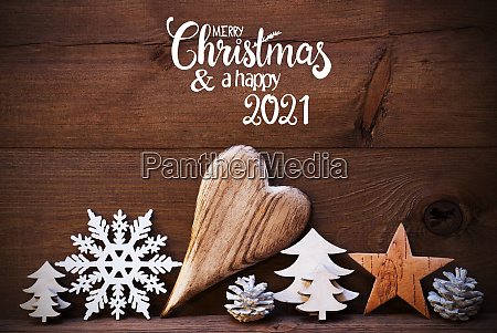 wooden christmas decoration heart merry christmas