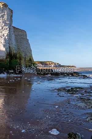 view of chalk cliffs at botany