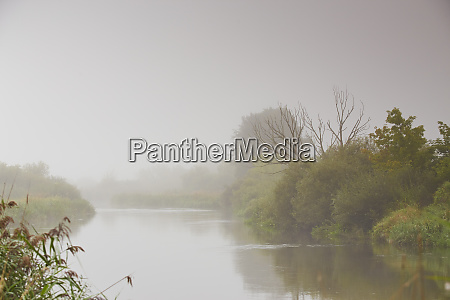 haze and mist over water fog