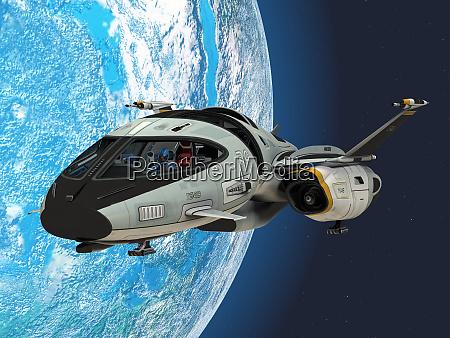 shuttlestar in earth orbit