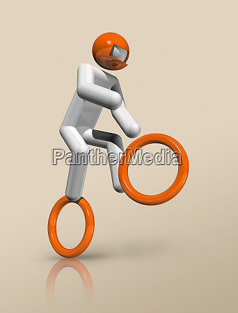 cycling bmx 3d icon olympic sports