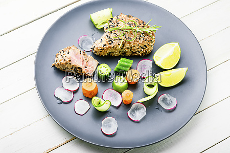 baked tuna steak