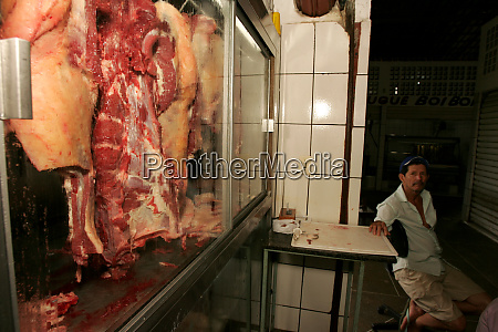 meat for sale in fair in