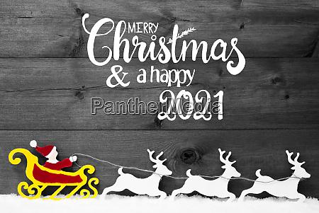 ornament snow sleigh reindeers red satna