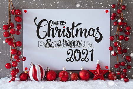 red decoration sign snow snowflakes merry