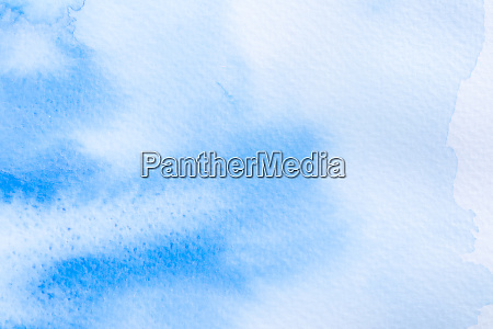 blue watercolor abstract background on white