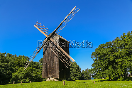 traditional windmill in estonia