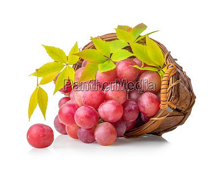 pink grape basket