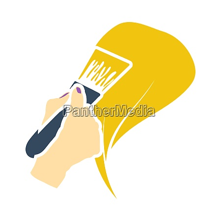 painting hair icon