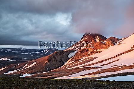 sunset near kerlingarfjoll geothermal area iceland