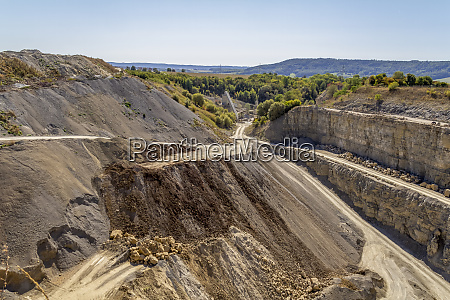 quarry scenery at summer time