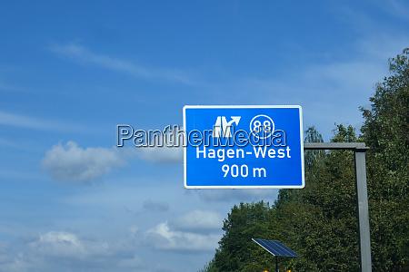 federal motorway exit hagen west
