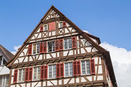 historic half timbered building