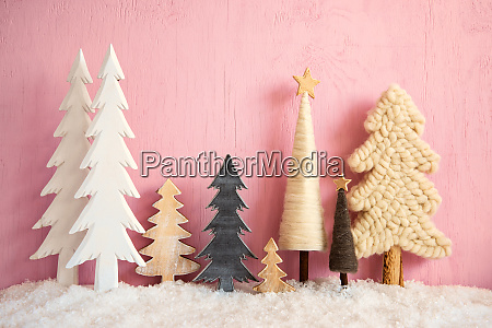 christmas, trees, , snow, , retro, pink, grungy - 28816993