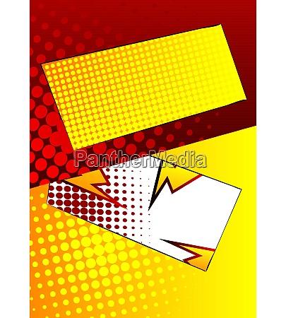 comic book design colored versus background