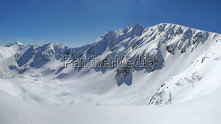 panorama of low tatras with mount
