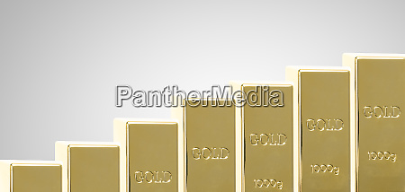gold price increase symbolized by rising