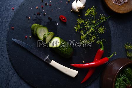 rustic fresh pickled cucumber polish