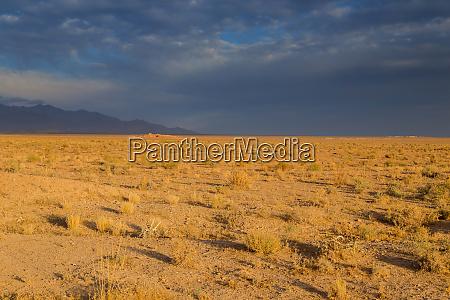 desert under mountains