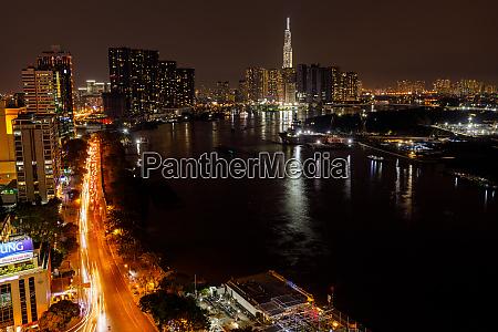 the skyline of ho chi minh