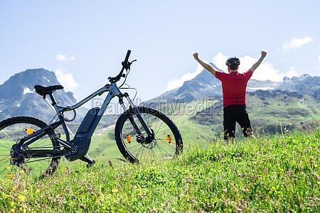 e bike mountain bicycle in austria