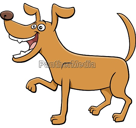 cartoon playful dog funny animal character