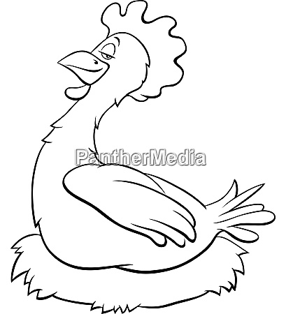 hen or chicken farm bird character