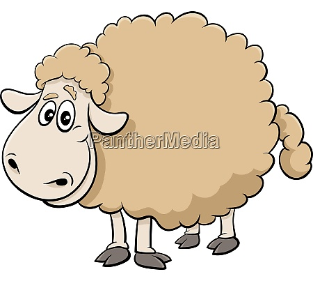 cartoon sheep farm animal character