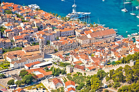 old town of hvar bay and