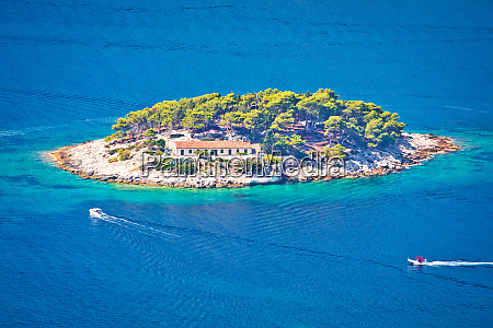island of galisnik in hvar archipelago
