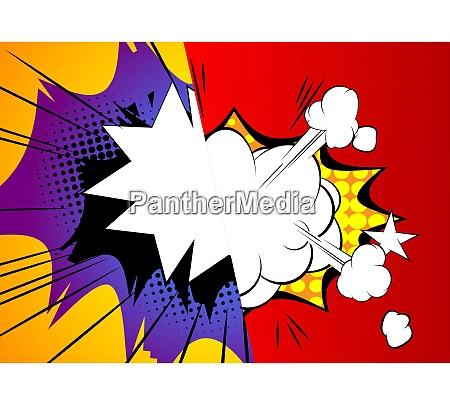 pop art comic design colored background