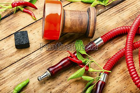 smoking shisha with chili