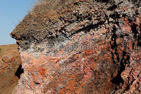 igneous lava rock on mount batur