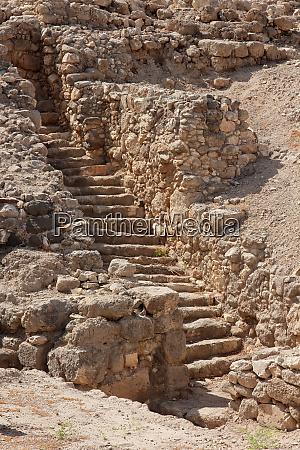 ruins at tel megiddo national park
