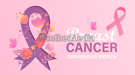 breast cancer awareness month banner with