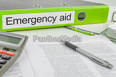 folder with the label emergency aid