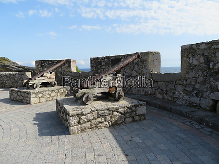 beautiful very old military cannon that