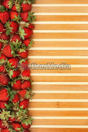 strawberries lying on the mat