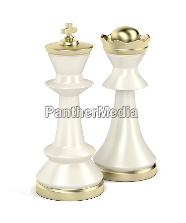white king and queen chess pieces